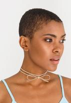 Jewels and Lace - Bow Choker Stone