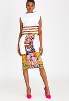 DAVID by David Tlale - Patchwork Pencil Skirt Multi-colour
