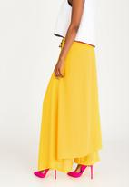 DAVID by David Tlale - Palazzo Wrap Pants Yellow