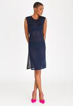 DAVID by David Tlale - Star Slip Dress Dark Blue