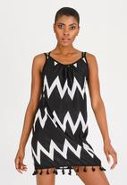 Lithe - Aztec Print Cover-up Black