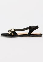 Footwork - Pearl Detail Sandals Black