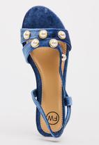 Footwork - Pearl Detail Sandals Blue