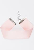 Jewels and Lace - Satin Choker Pale Pink