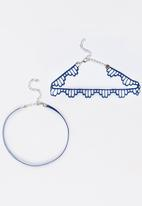 Jewels and Lace - Chocker Twin Pack Blue