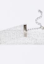 Jewels and Lace - Mesh Choker Silver