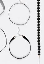 Jewels and Lace - Choker Value Pack Black