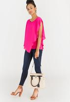 Marie Claire - Colour-Block Tote Bag Multi-colour