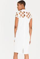 STYLE REPUBLIC - Laser-cut Bodycon Dress Cream