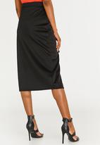 STYLE REPUBLIC - Lace-up Skirt Black