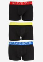 Brave Soul - Jay Branded 3 Pack Boxers Multi-colour