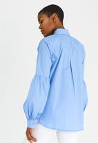 edit - Longsleeve Shirt with Sleeve Detail Pale Blue