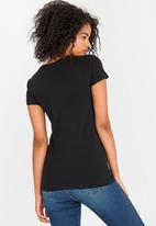 POLO - Allie Short Sleeve Pony Tee Black