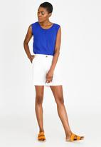 edit - Casual Linen Blend Shorts White