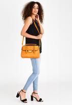 BLACKCHERRY - Quilted Satchel Bag Tan