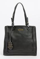 BLACKCHERRY - Stitch Detail Tote Bag Black