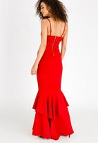 Sissy Boy - Corset Detail Maxi Dress Red