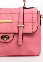 BLACKCHERRY - Quilted Satchel Bag Mid Pink