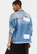 Noisy May - Molli Denim Jacket Pale Blue
