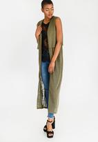 Noisy May - Hamok Long Cardigan Green