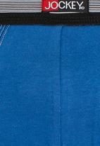Jockey - Jockey 2-Pack One Up Stretch Trunk Black and Blue