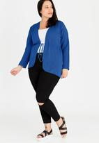 edit Plus - Lace Knit Cardigan Blue