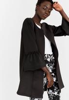 edit - Bell Sleeve Lined Coat Black