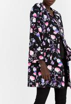 edit - Bell Sleeve Lined Coat Floral