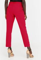edit - Tapered Smart Pants Red