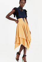 Sober - Victoria High-Waist Corset Skirt Gold
