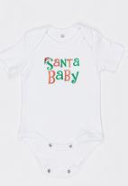 Funky Shop - Slogan Baby Grow White
