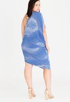 RUFF TUNG - Talia One Shoulder Dress Blue