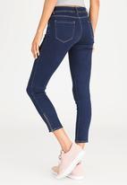 STYLE REPUBLIC - Zip Detail Skinny Jeans Dark Blue