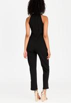 STYLE REPUBLIC - Ruffle Detail Jumpsuit Black