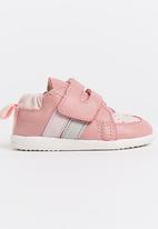 shooshoos - Road Sign Sneaker Mid Pink