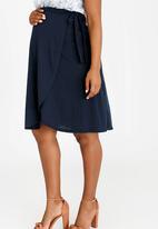 edit Maternity - Wrap Skirt Navy