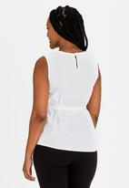 edit Maternity - Sleeveless Cotton Blouse White