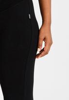 Cherry Melon - Basic 3/4 Length Leggings Black