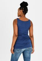 Cherry Melon - Tank Top with Side Detail Navy