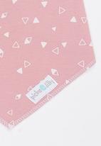 Pickalilly - Printed Bandana Bib Pale Pink
