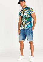 STYLE REPUBLIC - King Roller Mandarin Shirt Blue