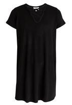 Rebel Republic - Criss Cross Front A-line Dress Black