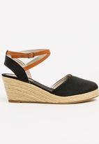 Awol - Ankle-strap Wedges Black