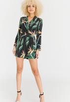ONLY - Wess 3/4 Sleeve Playsuit Black