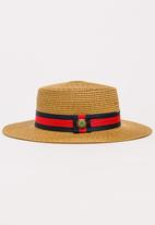 STYLE REPUBLIC - Straw Panama Hat Tan
