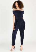 RUFF TUNG - Off Shoulder Jumpsuit Navy