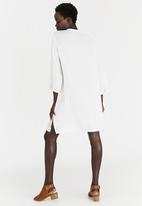 G Couture - Mirrored Embroidery Tunic Dress Milk
