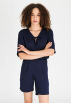 edit - Kaftan Playsuit Navy