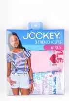 Jockey - 3 PK Girls Print French Cut Multi-colour