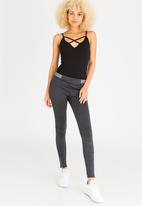 c(inch) - Sport Luxe Leggings Dark Grey